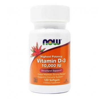 Витамины NOW Vitamin D-3 10,000 МЕ 120 табл