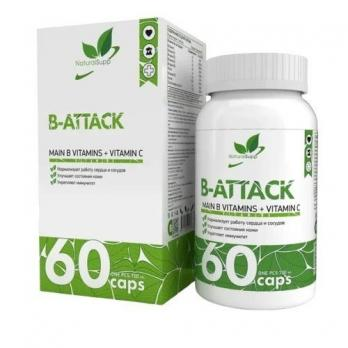 Витамины NaturalSupp B-Attack 60 капс