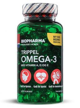 Витамины BIOPHARMA Trippel Omega-3 144 капс