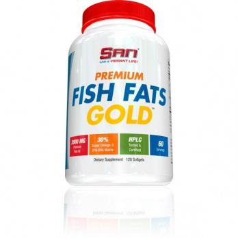 Витамины SAN Omega 3 FISH FATS GOLD 120 капс