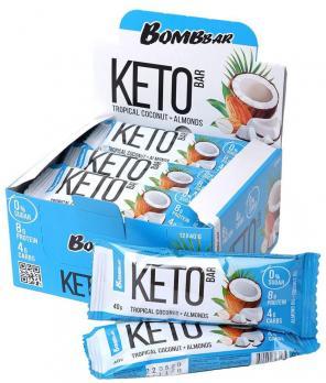 Батончик протеиновый BOMBBar KETO bar 60гр