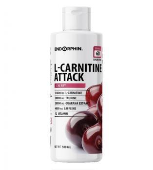 L-карнитин ENDORPHIN  L-carnitine ATTACK + Guarana 500 мл