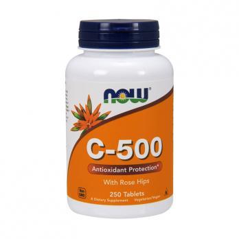 Витамины NOW Vitamin C-500 with Rose Hips 100 табл