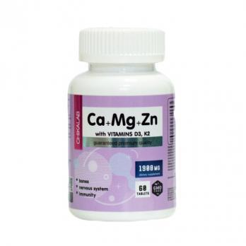 Витамины CHIKALAB  Ca+Mg+Zn  D3,K2 60 табл.