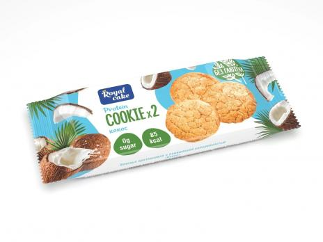 Печенье с высоким содержанием протеина 25% Сookie Royal Cake, 50 гр