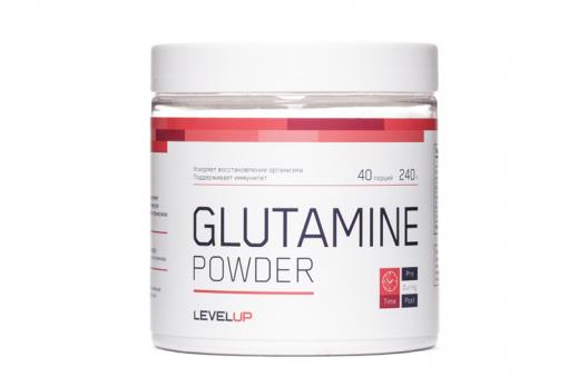 Глютамин Level Up Glutamine Powder 240 гр