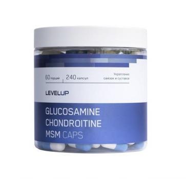 Средство для суставов и связок Level Up GLUCOSAMINE CHONDROITINE MSM 240 CAPS