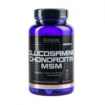 Хондропротектор Ultimate Nutrition Glucosamine & Chondroitin & MSM 90 табл