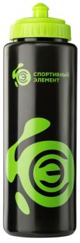 Бутылка «Нефрит» 1000 мл   черно-зеленая бутылка с зеленым логотипом