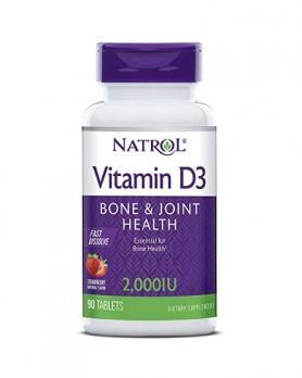 Витамины NATROL Vitamin D3 2.000 ME 90 таб