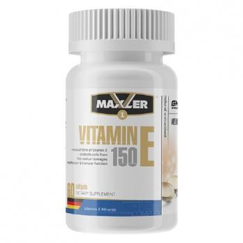 Витамины Maxler Vitamine E 150 мг 60 капс