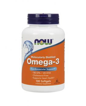 Витамины NOW Omega 3 1000 мг 100 капс.