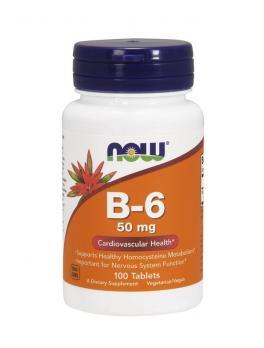 Витамины NOW Vitamine B-6 50 мг 100 табл