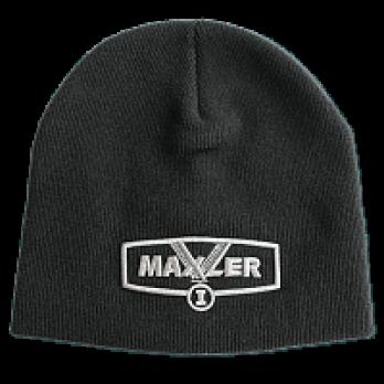 Черная шапка с логотипом Maxler
