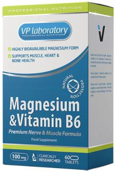 Минералы VPLAB Magnesium B6 60 табл.