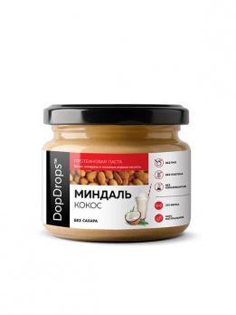 Протеиновая паста Миндаль DopDrops кокос 250 гр